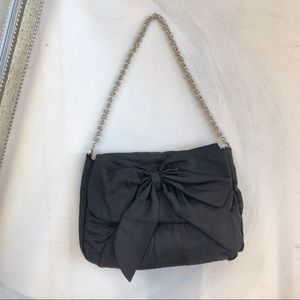NWOT French Connection Black Bow Purse Clutch
